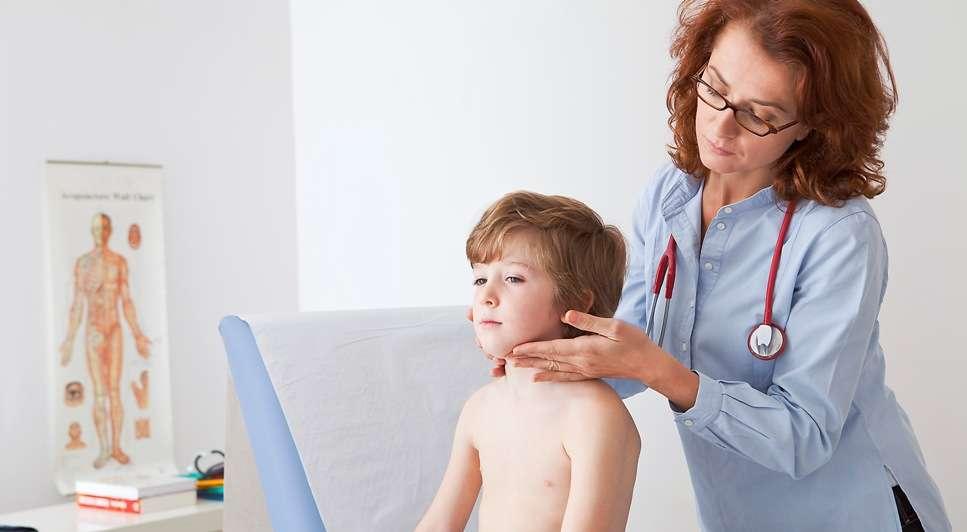 увеличенный лимфоузел на шее у ребенка