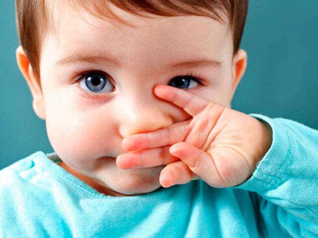 Что делать если у первенца заложен нос