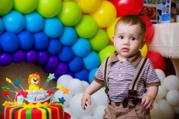 первый день рождения ребенка дома