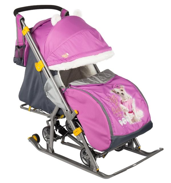 Детские сани-коляска