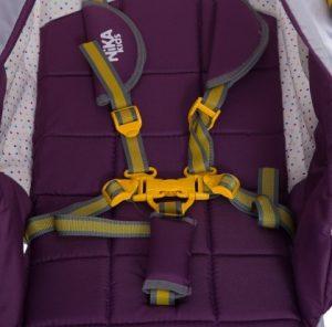 Детские сани-коляска, страховочные ремни